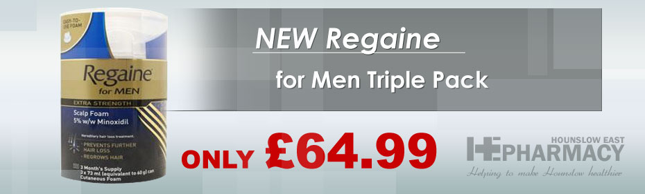 New Regaine for Men Triple Pack only £49.99